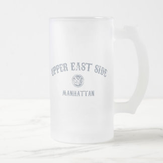 Upper East Side Frosted Glass Beer Mug