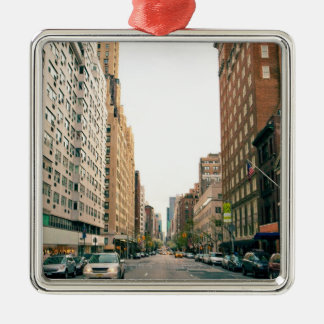 Upper East Side Square Metal Christmas Ornament