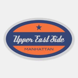 Upper East Side Oval Sticker