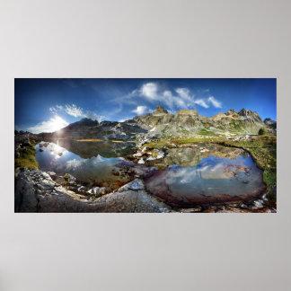 Upper Ediza Lake Basin under the Minarets - Sierra Poster
