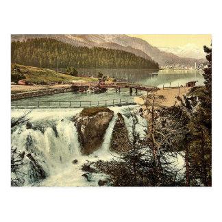 Upper Engadine, Falls of the Inn, Grisons, Switzer Postcard