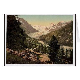 Upper Engadine, Morteratsch Glacier, Grisons, Swit Greeting Cards