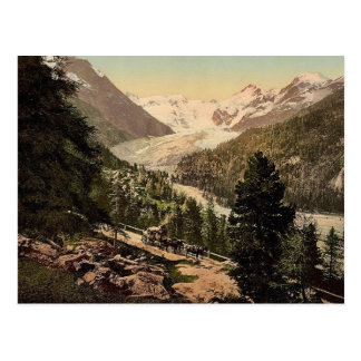 Upper Engadine, Morteratsch Glacier, Grisons, Swit Postcard