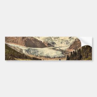 Upper Engadine, Roseg Glacier and Hotel, Grisons, Bumper Sticker