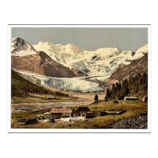Upper Engadine, Roseg Glacier and Hotel, Grisons, Post Card