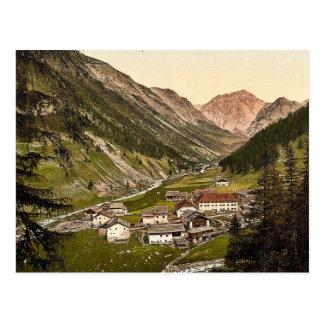 Upper Engadine, Scarl, Grisons, Switzerland classi Post Cards