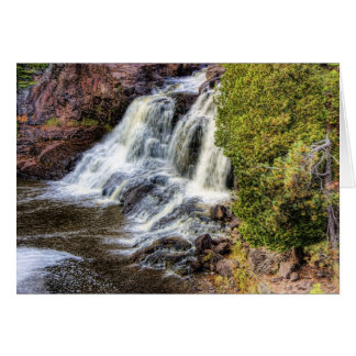 Upper Falls at Gooseberry Stationery Note Card