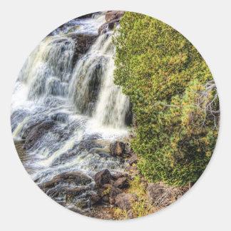 Upper Falls at Gooseberry Classic Round Sticker