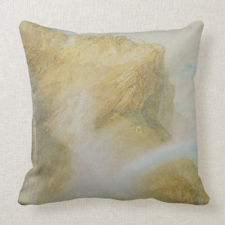 Upper Falls of the Reichenbach (w/c on paper) Pillows