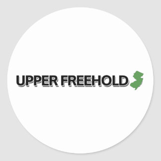 Upper Freehold, New Jersey Classic Round Sticker