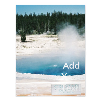 Upper Geyser Basin Crested Pool Yellowstone Magnetic Card