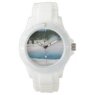 Upper Geyser Basin Crested Pool Yellowstone Wristwatch