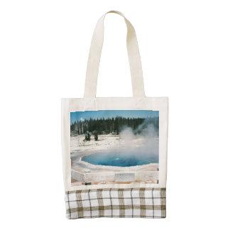Upper Geyser Basin Crested Pool Yellowstone Zazzle HEART Tote Bag