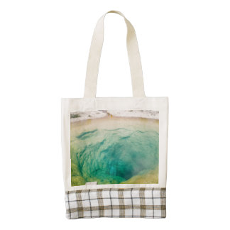 Upper Geyser Basin Morning Glory Pool Zazzle HEART Tote Bag