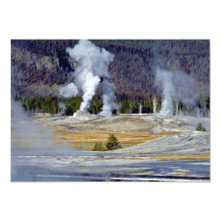 "Upper Geyser Basin, Yellowstone National Park, U.S 5"" X 7"" Invitation Card"