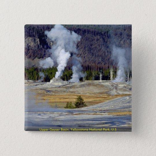 Upper Geyser Basin, Yellowstone National Park, U.S Pinback Button