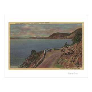 Upper Klamath Lake, Oregon - Lookout Point Postcard