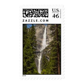 upper  Lower Yosemite Falls Spring Postage