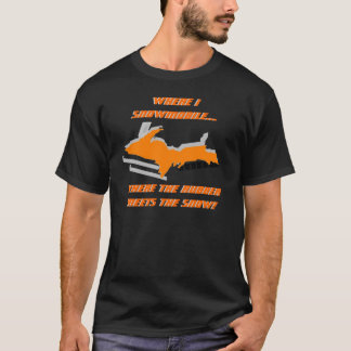 UPPER MICHIGAN MORPHS INTO SNOWMOBILE ~ SHIRT! T-Shirt