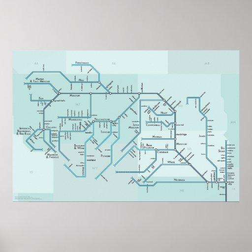 "Upper Missouri River 20"" x 30"" Print"