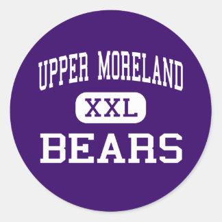 Upper Moreland - Bears - High - Willow Grove Classic Round Sticker