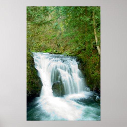 Upper Multnomah Falls, Oregon print poster