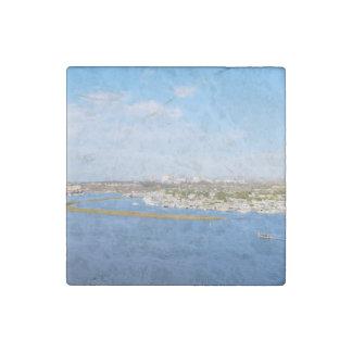 Upper Newport Bay - Back Bay Stone Magnet
