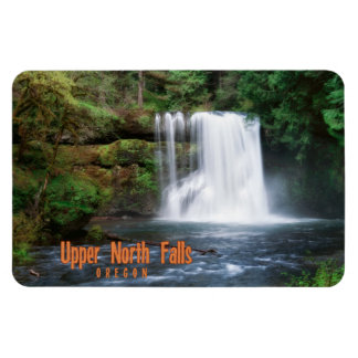 Upper North Falls Oregon Rectangular Magnet