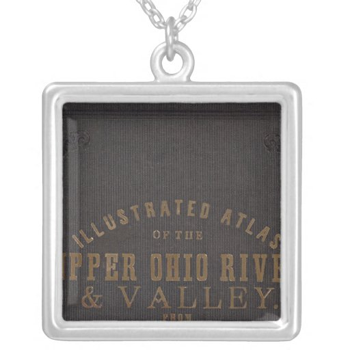 Upper Ohio River and Valley 11 Square Pendant Necklace