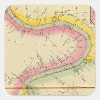 Upper Ohio River and Valley 11 Square Sticker