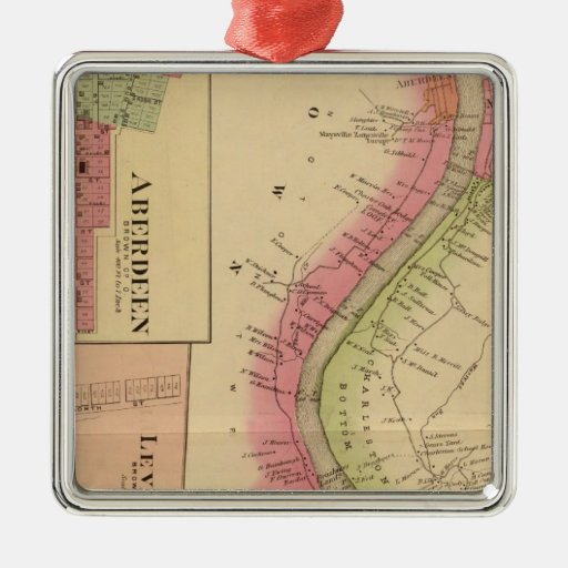 Upper Ohio River and Valley 2 Square Metal Christmas Ornament