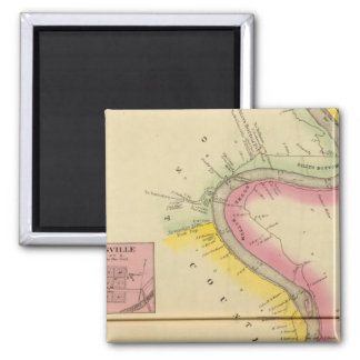 Upper Ohio River and Valley 3 2 Inch Square Magnet