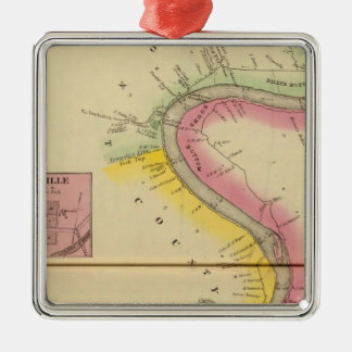 Upper Ohio River and Valley 3 Metal Ornament