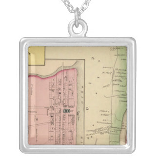 Upper Ohio River and Valley 3 Silver Plated Necklace