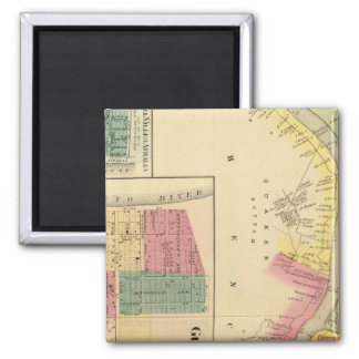 Upper Ohio River and Valley 4 2 Inch Square Magnet