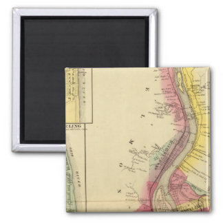 Upper Ohio River and Valley 5 2 Inch Square Magnet