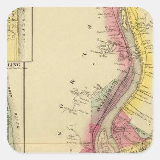 Upper Ohio River and Valley 5 Square Sticker