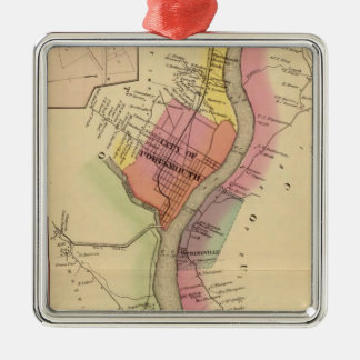 Upper Ohio River and Valley 8 Square Metal Christmas Ornament