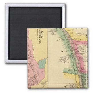 Upper Ohio River and Valley 9 2 Inch Square Magnet