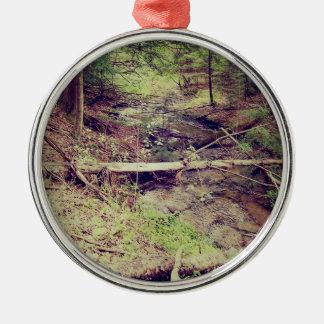 Upper Peninsula Creek Metal Ornament