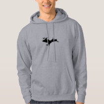 Upper Peninsula Deer hunting Grey hoodie
