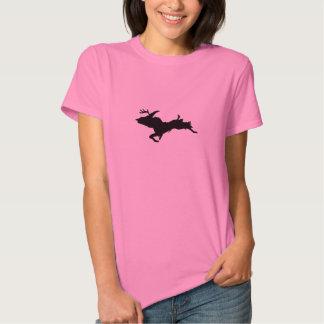 Upper Peninsula Deer hunting Ladies Pink t-shirt