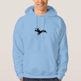 Upper Peninsula Deer hunting Light Blue hoodie
