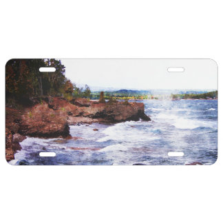 Upper Peninsula Landscape License Plate