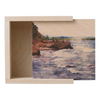 Upper Peninsula Landscape Wooden Keepsake Box