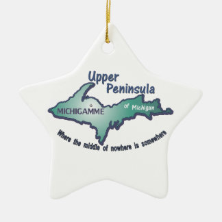 Upper Peninsula Michigamme middle of nowhere Ornaments