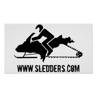 """""""Upper Peninsula Sled"""" UP Snowmobile Poster"""