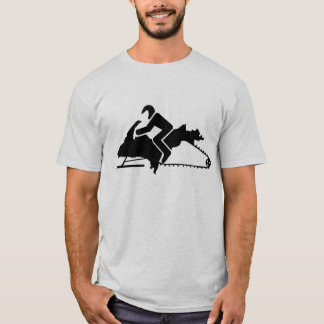 """Upper Peninsula UP Sled"" Sledders.com Ash T-shirt"