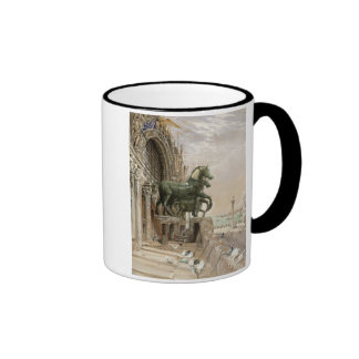 Upper portion of the facade of St. Mark's Church, Coffee Mug