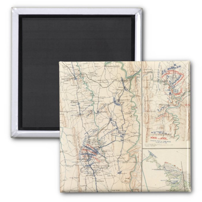 Upper Potomac McCoys Ferry-Conrads Ferry 2 Inch Square Magnet